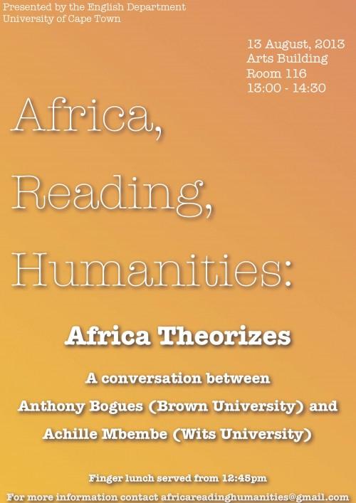 ARH AfricaTheorizes Poster